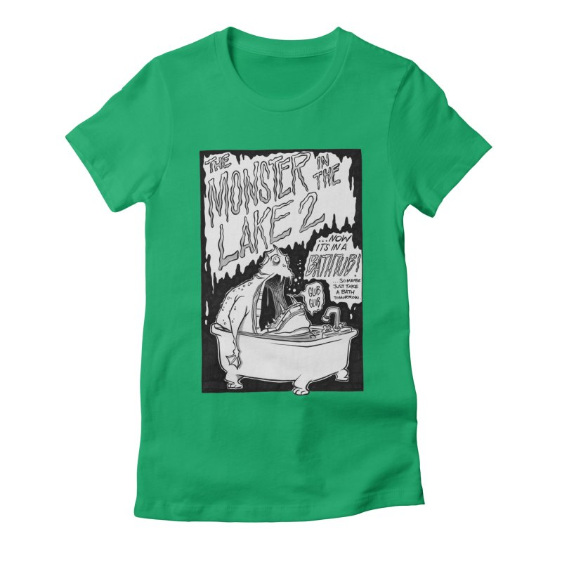 Monster in the Lake 2 Women's Fitted T-Shirt by westinchurch's Artist Shop