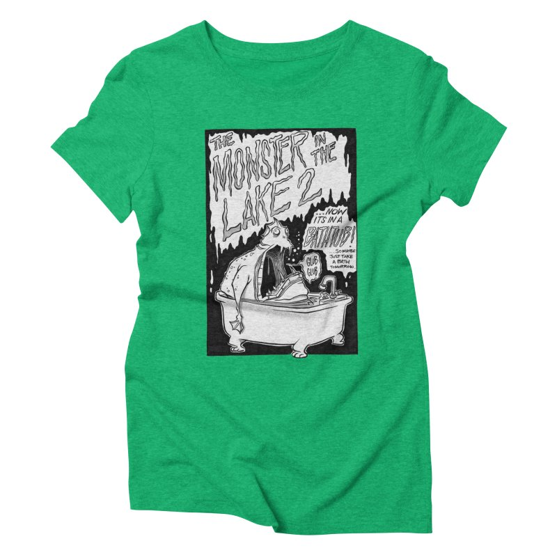 Monster in the Lake 2 Women's Triblend T-shirt by westinchurch's Artist Shop