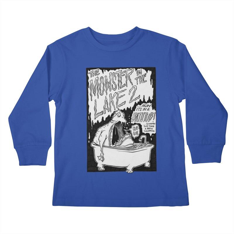 Monster in the Lake 2 Kids Longsleeve T-Shirt by westinchurch's Artist Shop