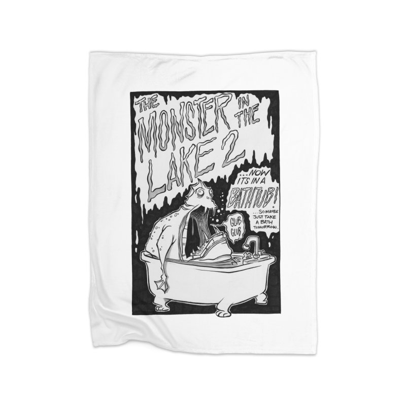 Monster in the Lake 2 Home Blanket by westinchurch's Artist Shop