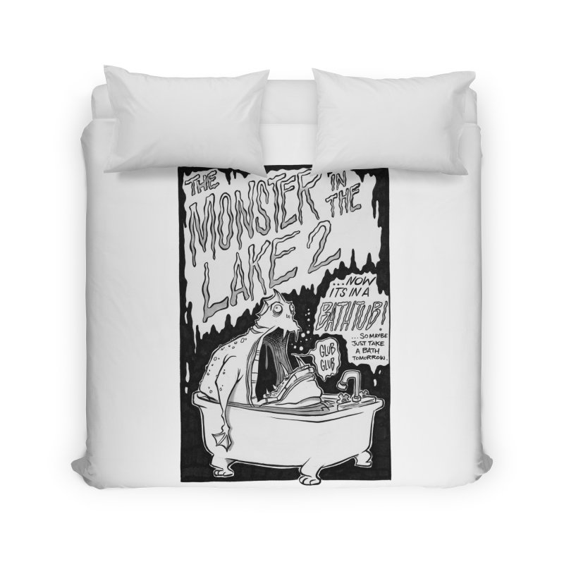Monster in the Lake 2 Home Duvet by westinchurch's Artist Shop