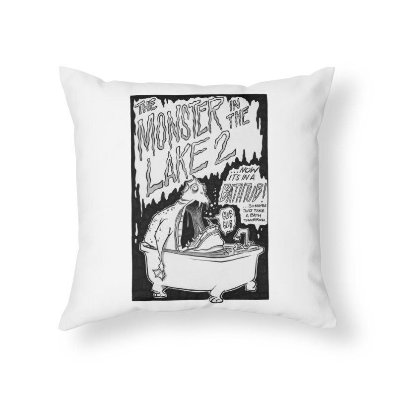 Monster in the Lake 2 Home Throw Pillow by westinchurch's Artist Shop