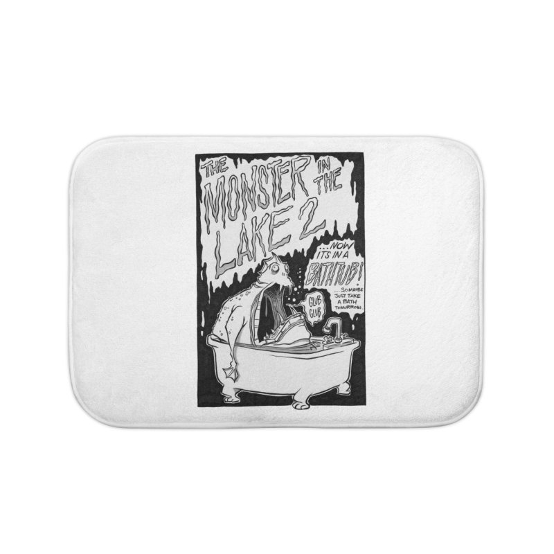 Monster in the Lake 2 Home Bath Mat by westinchurch's Artist Shop