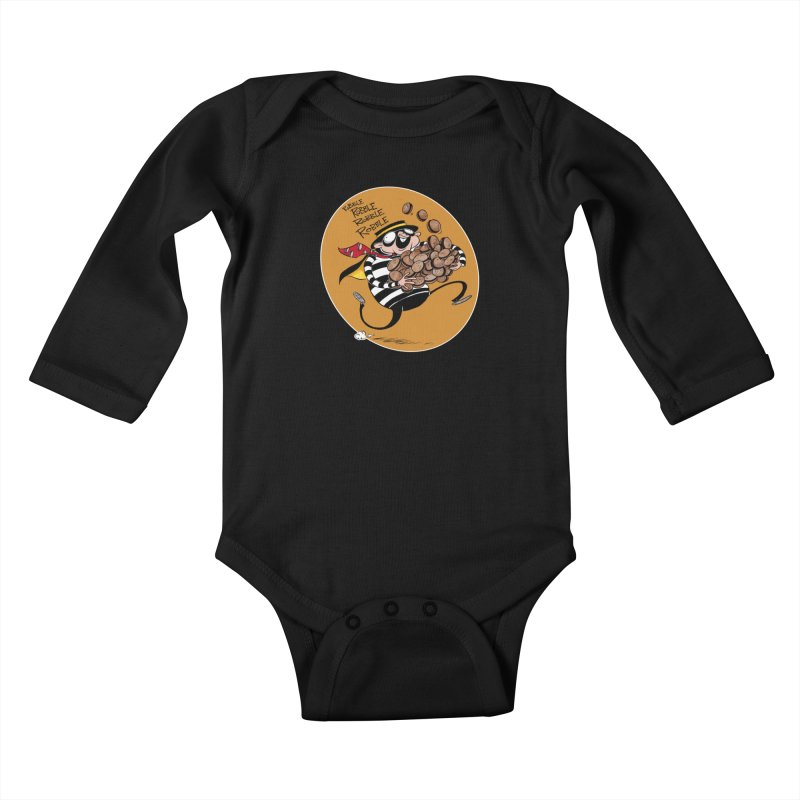Hamburglar Kids Baby Longsleeve Bodysuit by westinchurch's Artist Shop