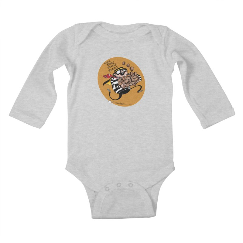 Hamburglar Kids Baby Longsleeve Bodysuit by westinchurch's Artist Shop