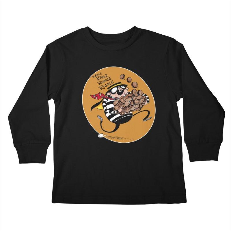 Hamburglar Kids Longsleeve T-Shirt by westinchurch's Artist Shop