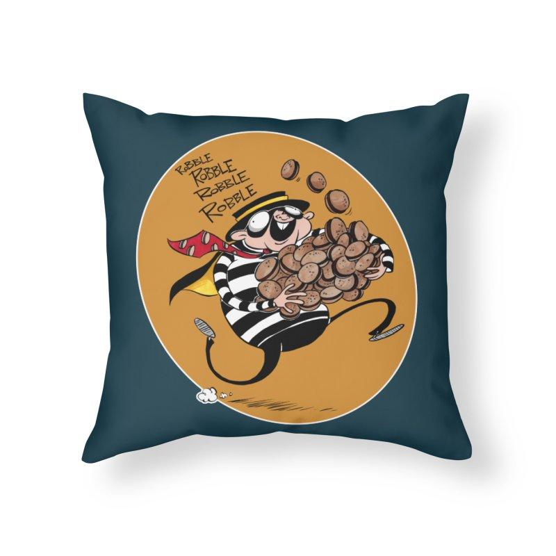 Hamburglar Home Throw Pillow by westinchurch's Artist Shop