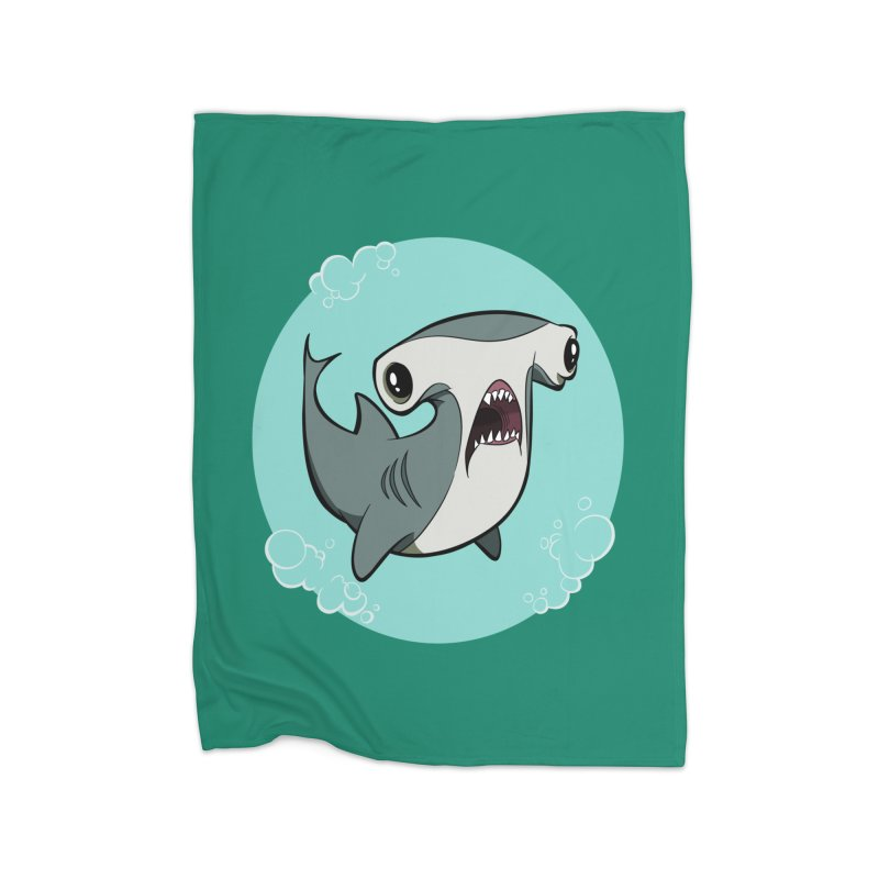 Hammerhead Shark! Home Blanket by westinchurch's Artist Shop