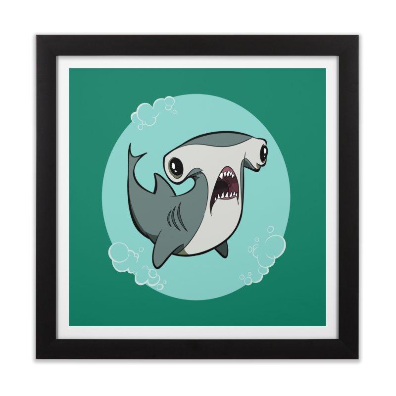 Hammerhead Shark! Home Framed Fine Art Print by westinchurch's Artist Shop