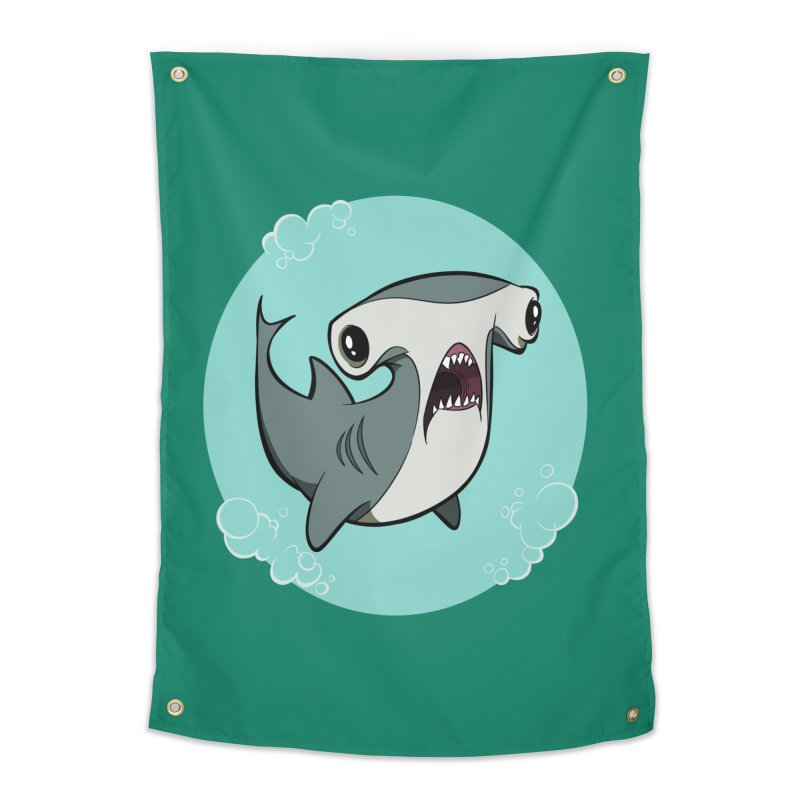 Hammerhead Shark! Home Tapestry by westinchurch's Artist Shop