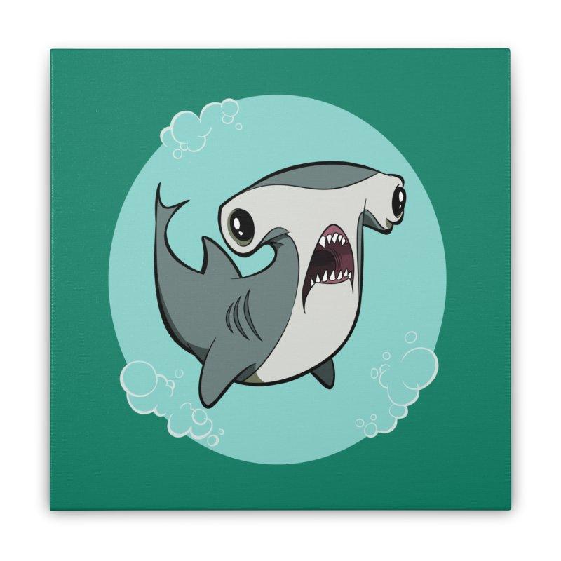 Hammerhead Shark! Home Stretched Canvas by westinchurch's Artist Shop