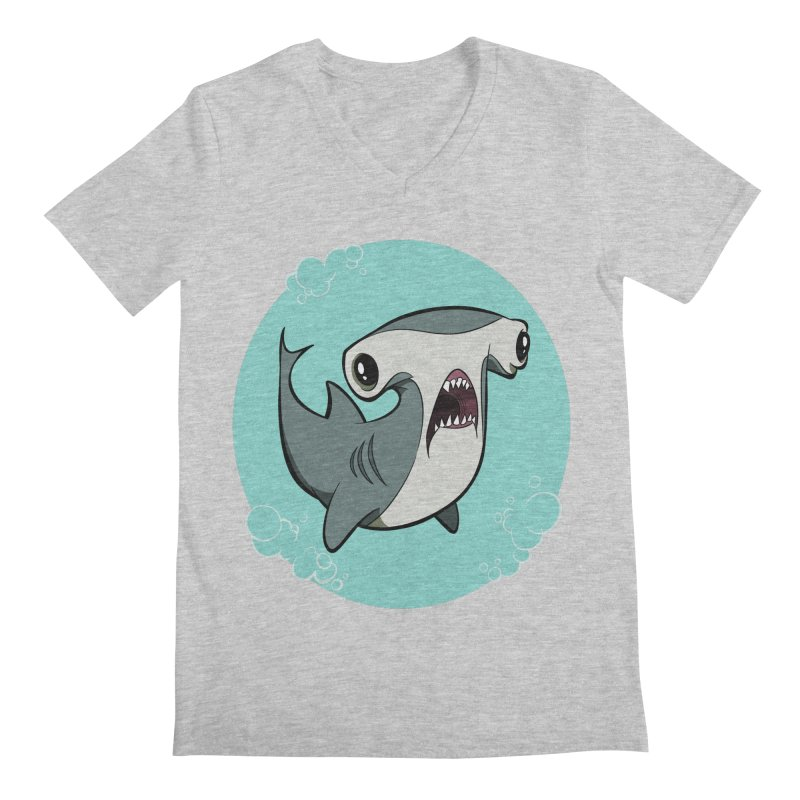 Hammerhead Shark! Men's V-Neck by westinchurch's Artist Shop