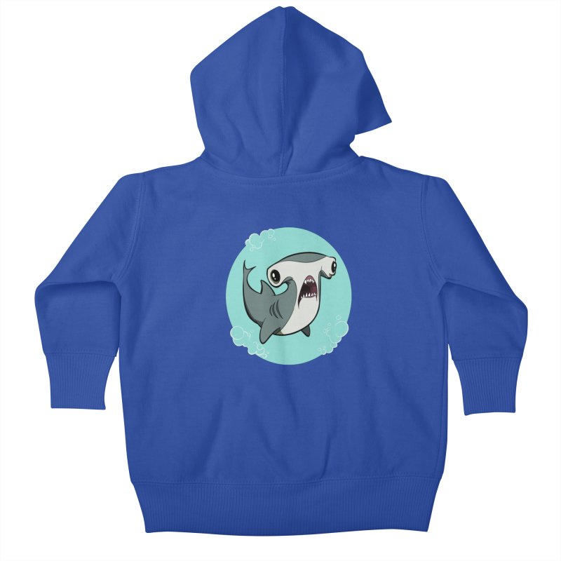 Hammerhead Shark! Kids Baby Zip-Up Hoody by westinchurch's Artist Shop