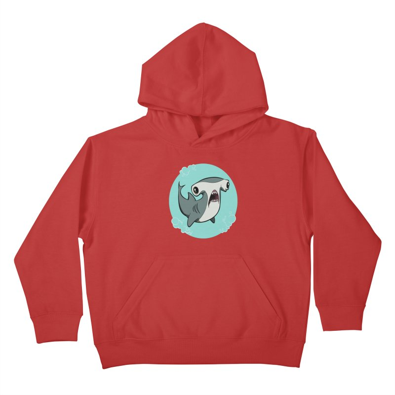 Hammerhead Shark! Kids Pullover Hoody by westinchurch's Artist Shop