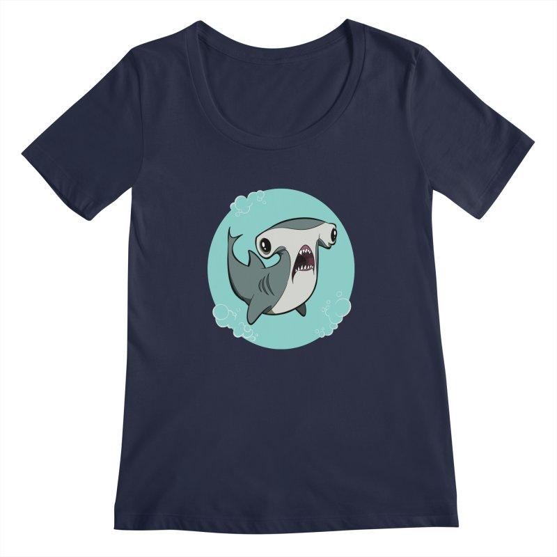 Hammerhead Shark! Women's Scoopneck by westinchurch's Artist Shop