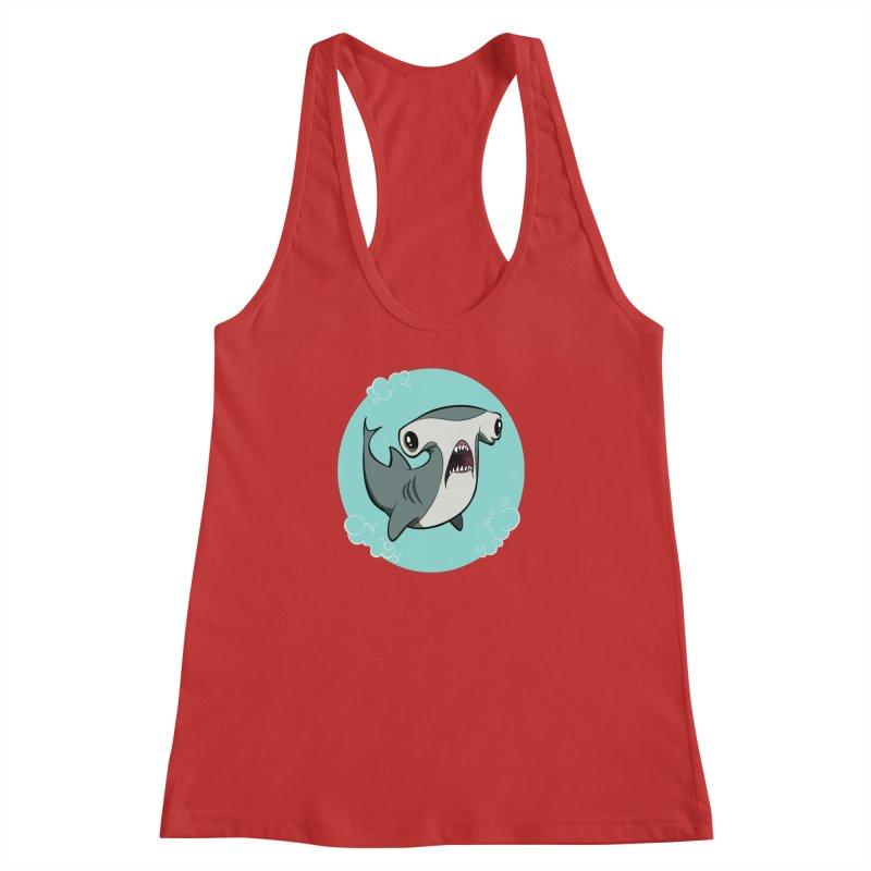 Hammerhead Shark! Women's Racerback Tank by westinchurch's Artist Shop