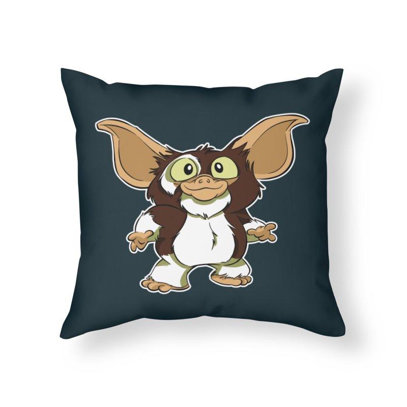 Mogwai Home Throw Pillow by westinchurch's Artist Shop