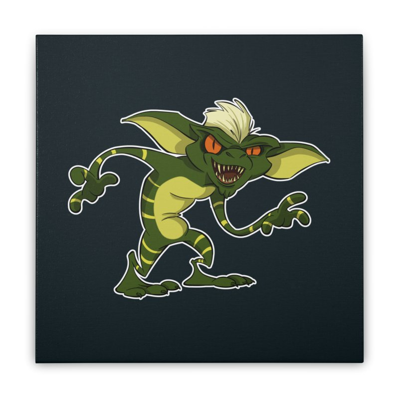 Gremlin! Home Stretched Canvas by westinchurch's Artist Shop