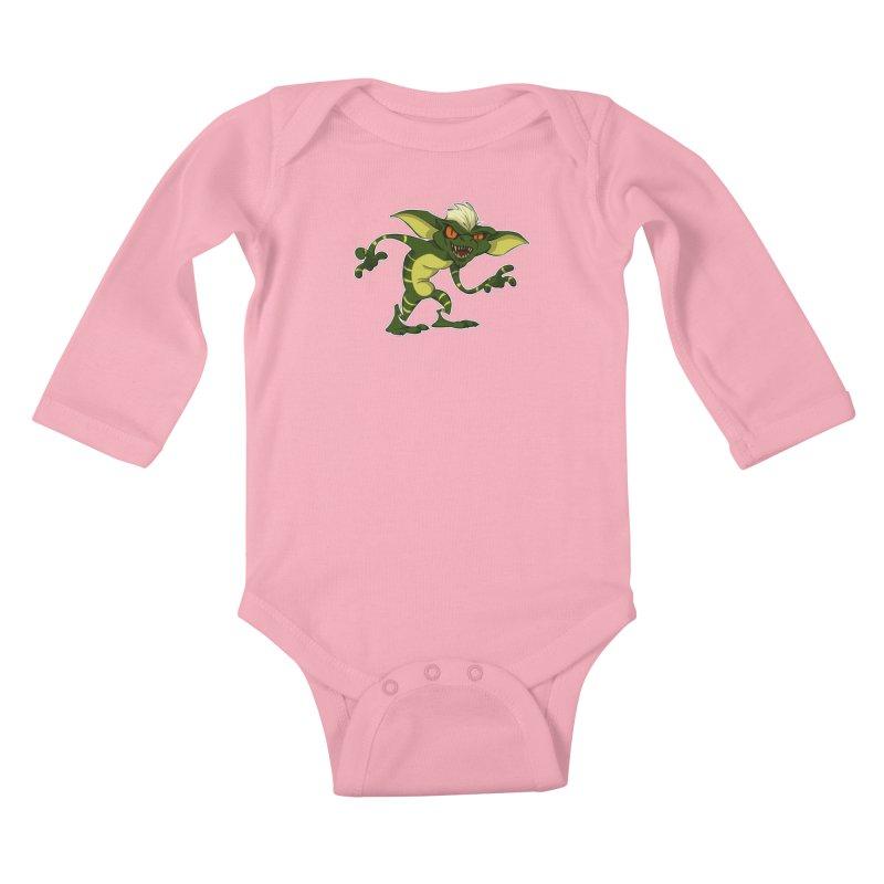 Gremlin! Kids Baby Longsleeve Bodysuit by westinchurch's Artist Shop