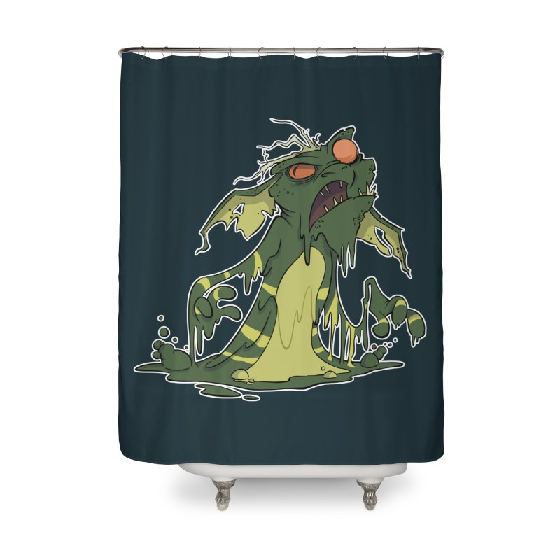 Gremlin Melting Home Shower Curtain by westinchurch's Artist Shop