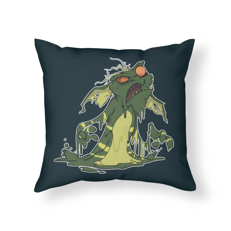 Gremlin Melting Home Throw Pillow by westinchurch's Artist Shop