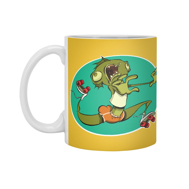 Rollerskating Fish Man! Accessories Mug by westinchurch's Artist Shop