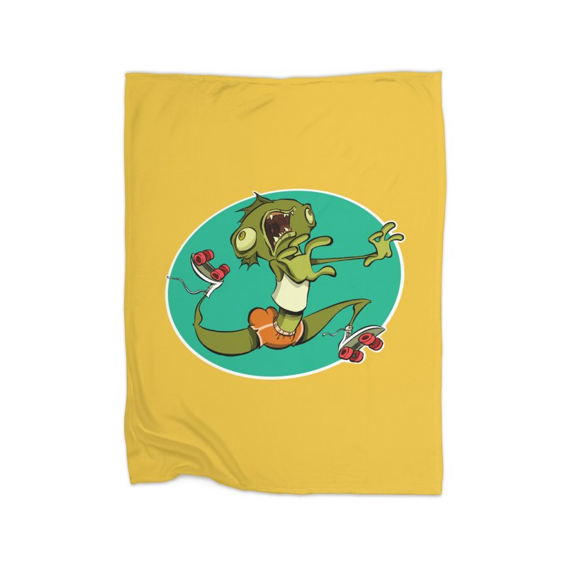 Rollerskating Fish Man! Home Blanket by westinchurch's Artist Shop