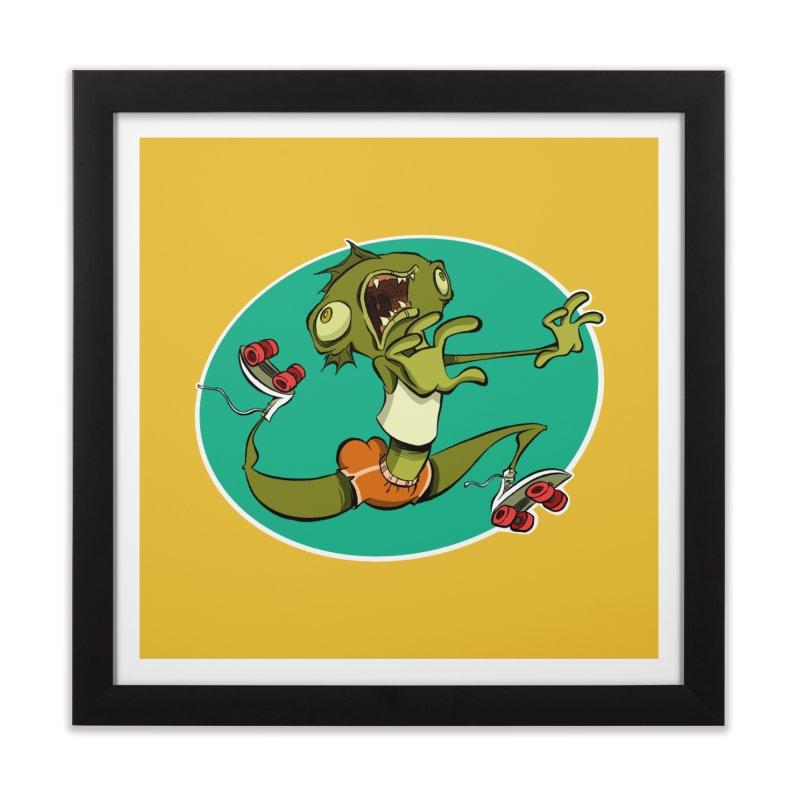 Rollerskating Fish Man! Home Framed Fine Art Print by westinchurch's Artist Shop