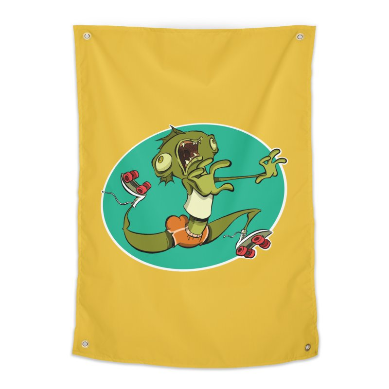 Rollerskating Fish Man! Home Tapestry by westinchurch's Artist Shop