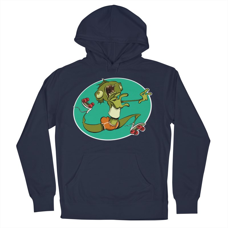 Rollerskating Fish Man! Men's Pullover Hoody by westinchurch's Artist Shop