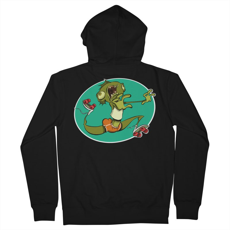 Rollerskating Fish Man! Men's Zip-Up Hoody by westinchurch's Artist Shop