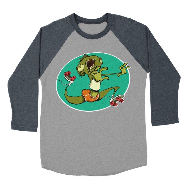 Rollerskating Fish Man! Women's Baseball Triblend T-Shirt by westinchurch's Artist Shop