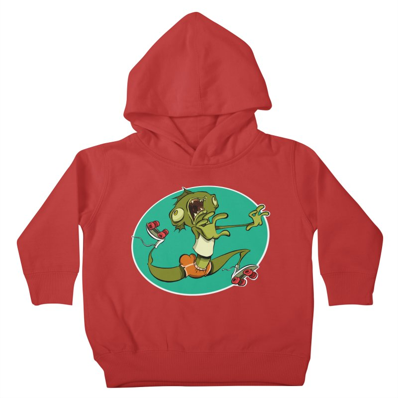 Rollerskating Fish Man! Kids Toddler Pullover Hoody by westinchurch's Artist Shop