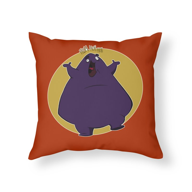 Grimace Home Throw Pillow by westinchurch's Artist Shop