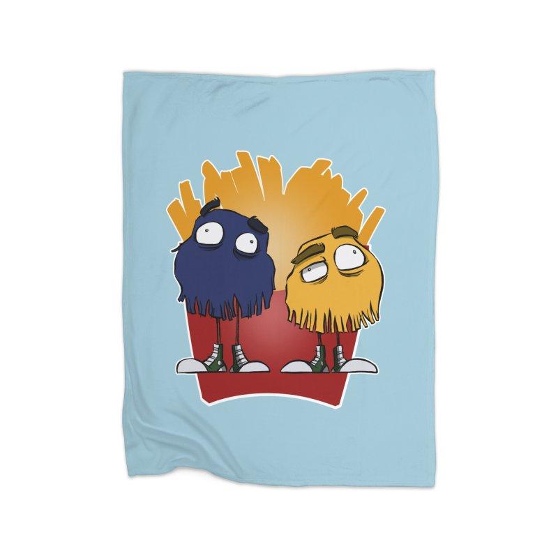 Fry Guys Home Blanket by westinchurch's Artist Shop