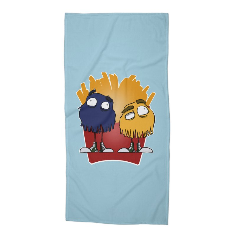 Fry Guys Accessories Beach Towel by westinchurch's Artist Shop