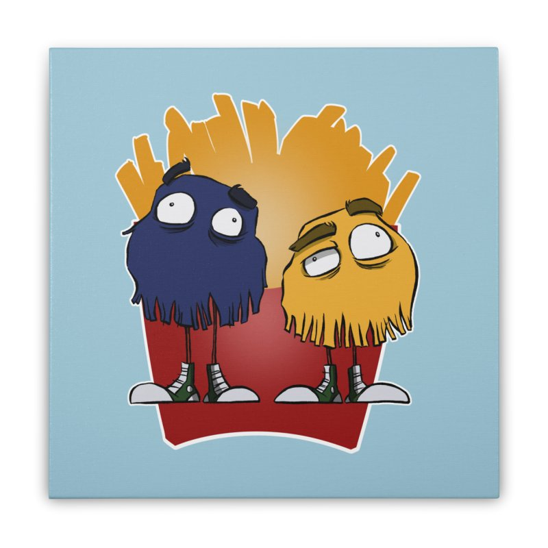 Fry Guys Home Stretched Canvas by westinchurch's Artist Shop