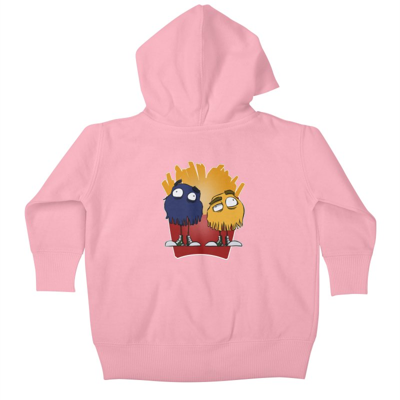 Fry Guys Kids Baby Zip-Up Hoody by westinchurch's Artist Shop