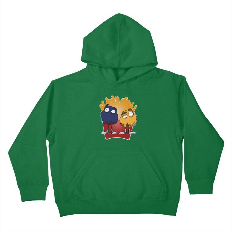 Fry Guys Kids Pullover Hoody by westinchurch's Artist Shop
