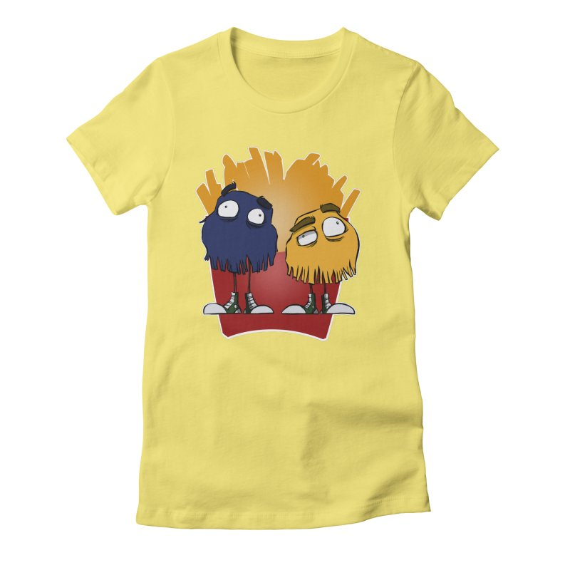 Fry Guys Women's Fitted T-Shirt by westinchurch's Artist Shop