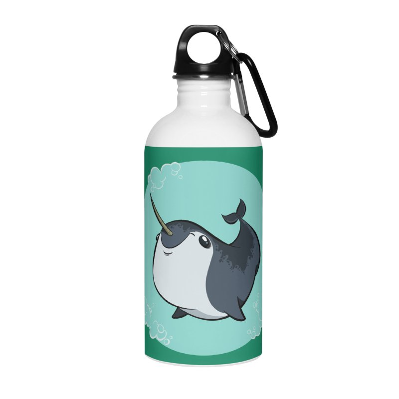 Mr. Narwhal Accessories Water Bottle by westinchurch's Artist Shop