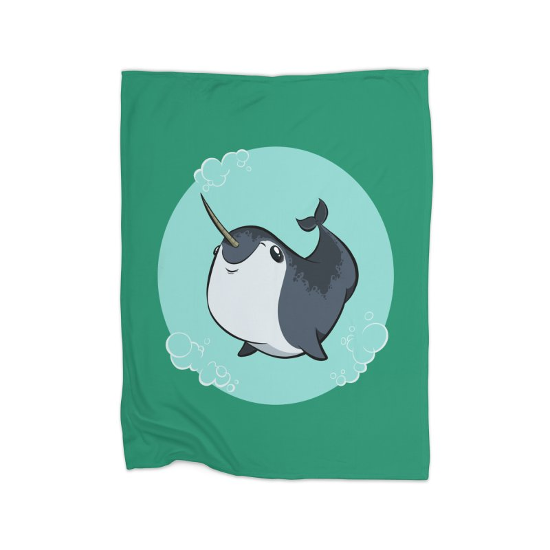 Mr. Narwhal Home Blanket by westinchurch's Artist Shop