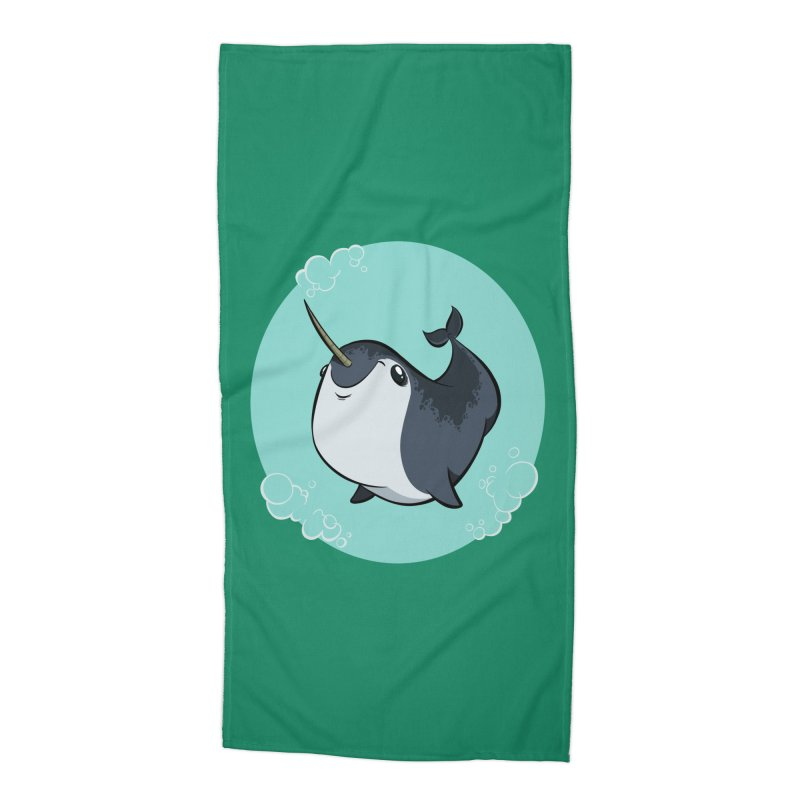Mr. Narwhal Accessories Beach Towel by westinchurch's Artist Shop