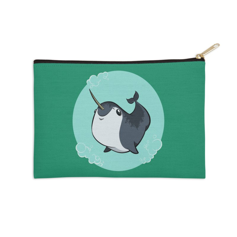 Mr. Narwhal Accessories Zip Pouch by westinchurch's Artist Shop
