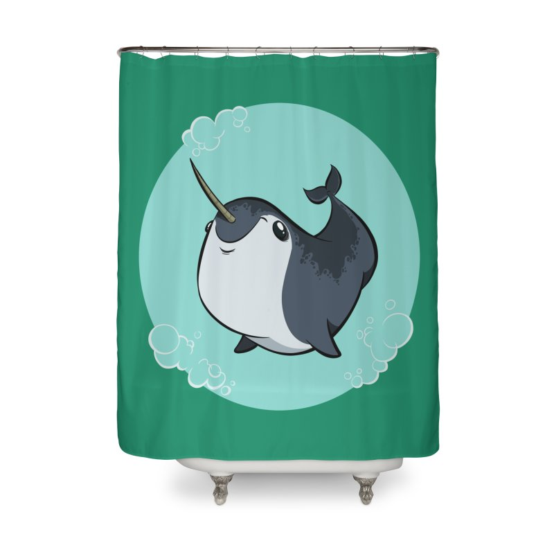Mr. Narwhal Home Shower Curtain by westinchurch's Artist Shop