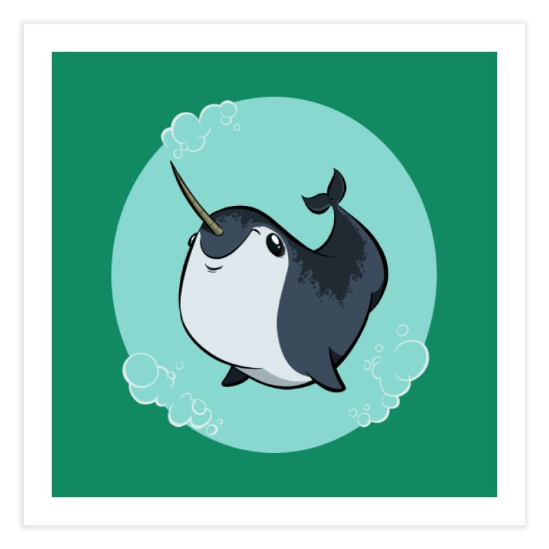 Mr. Narwhal Home Fine Art Print by westinchurch's Artist Shop