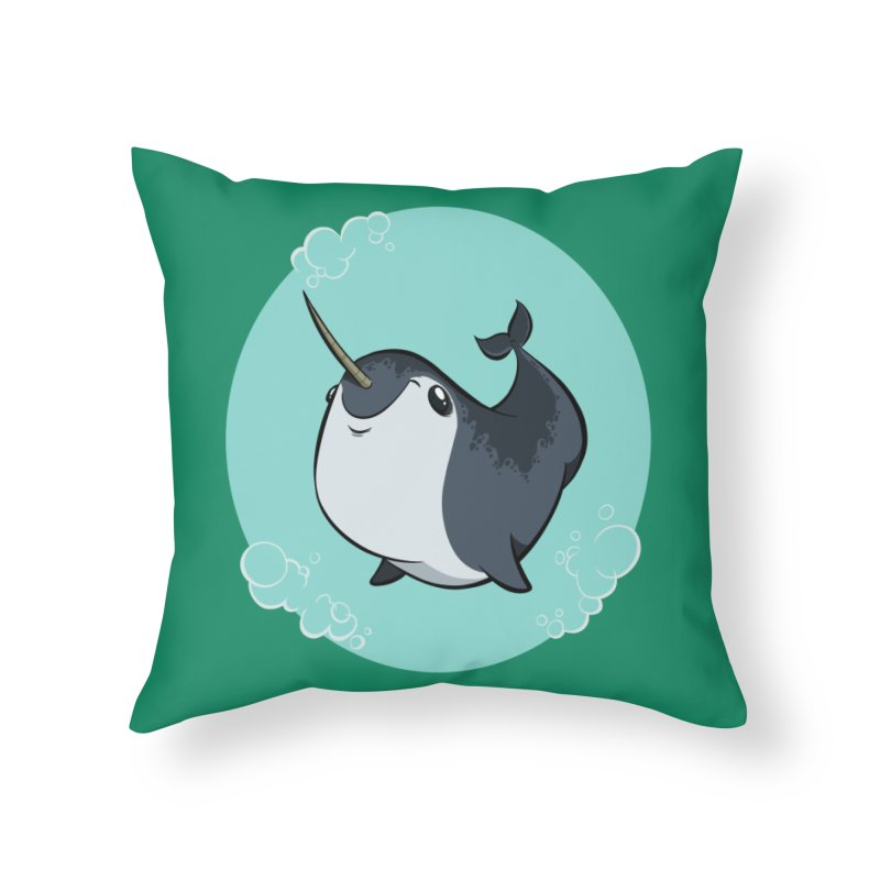 Mr. Narwhal Home Throw Pillow by westinchurch's Artist Shop
