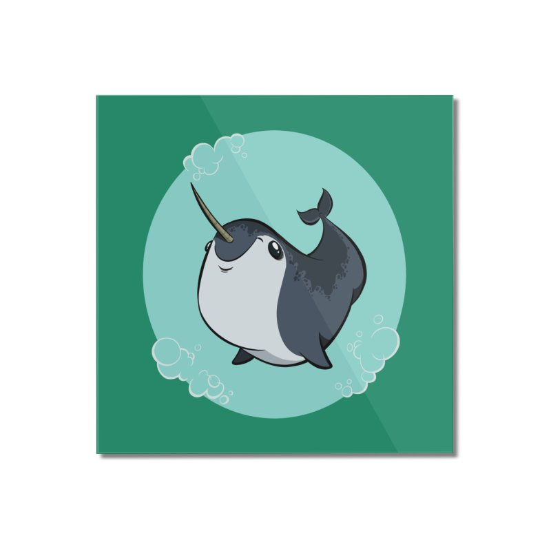 Mr. Narwhal Home Mounted Acrylic Print by westinchurch's Artist Shop