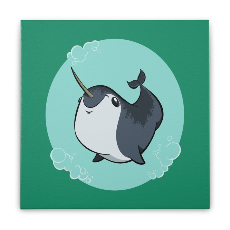 Mr. Narwhal Home Stretched Canvas by westinchurch's Artist Shop