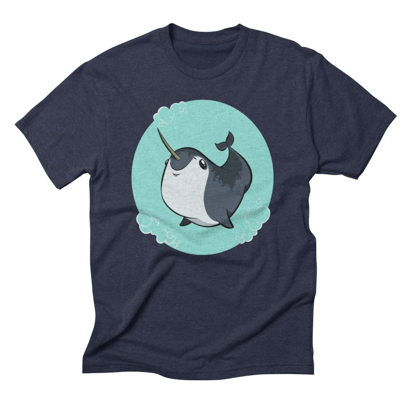 Mr. Narwhal Men's Triblend T-Shirt by westinchurch's Artist Shop